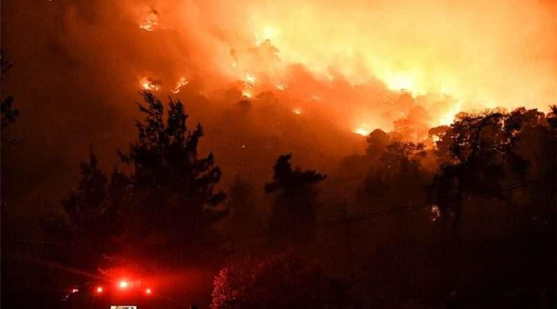 Φωτιά σε Κορινθία - Δυτική Αττική: Έγιναν στάχτη πάνω από 40.000 στρέμματα γιατί κάποιος θέλησε να κάψει ξερά κλαδιά σε ελαιώνα με αέρα πάνω από 7 μποφόρ.