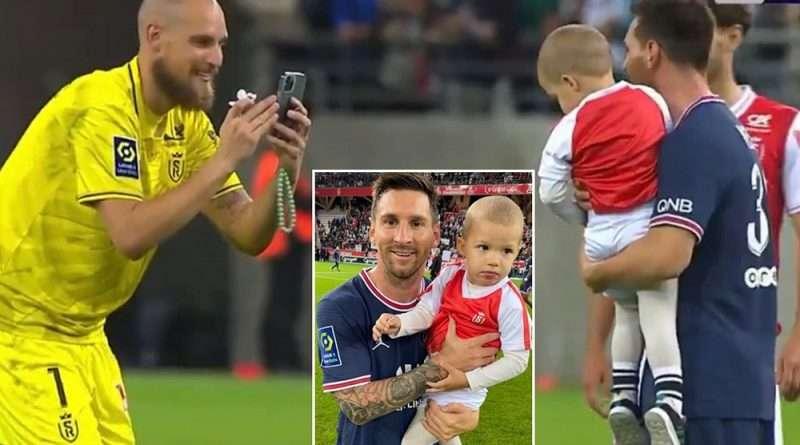Ο Λιονέλ Μέσι έκανε το ντεμπούτο του με την φανέλα της Παρί Σεν Ζερμέν και ο τερματοφύλακας της Ρεμς έβγαλε φωτογραφία τον γιο του με τον Αργεντινό.